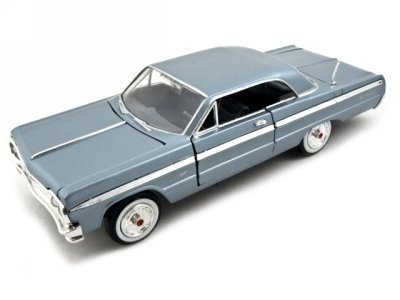 Motormax Premium American 1964 Chevrolet Impala 1/24 Scale Diecast Model Car Blue by Motormax