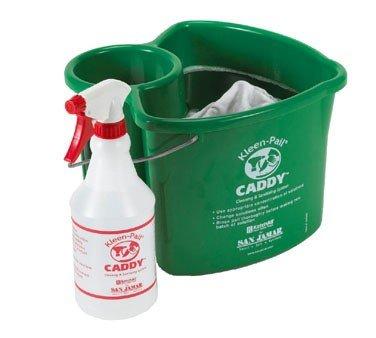 San Jamar KP500 Green Kleen-Pail Caddy And Spray Bottle ()