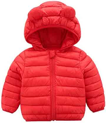 67ed6eef3e10 CECORC Winter Coats for Kids with Hoods (Padded) Light Puffer Jacket for  Baby Boys