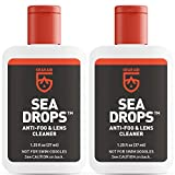 Gear Aid Sea Drops Anti-Fog and Cleaner for Dive and Snorkel Masks, 1.25 fl oz