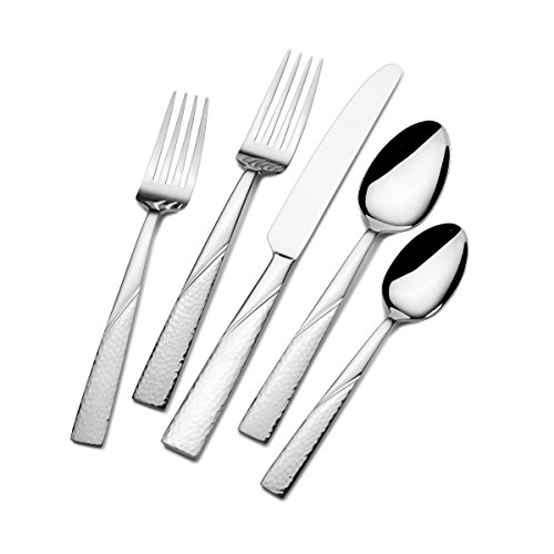 Gourmet Basics by Mikasa 5148972 Barletta 20-Piece Stainless Steel Flaware Set, Service for 4