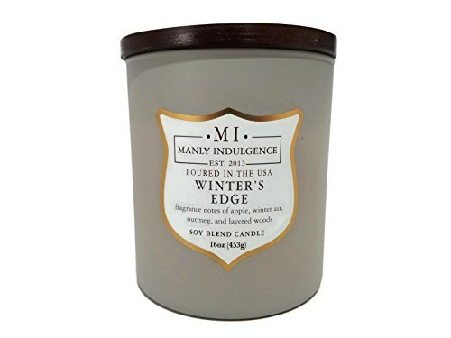 Manly Indulgence Winters Edge Scented Soy Blend Candle - 15 (Manly Scent)