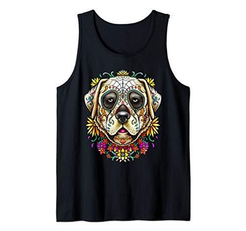 Labrador Retriever Lab Dog Sugar Skull Cinco De Mayo Tank -