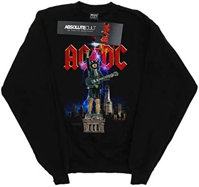 AC/DC Damen Angus NYC Sweatshirt Schwarz Small