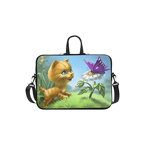 InterestPrint Cute Animal Cat Laptop Sleeve Case Bag, Cat Bu