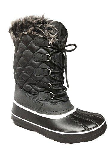 Anna Almeida Aspen-1/Frozen01 Women Winter Cold Weather Snowboots Lace Up Zipper Black01 hgHi6zQ