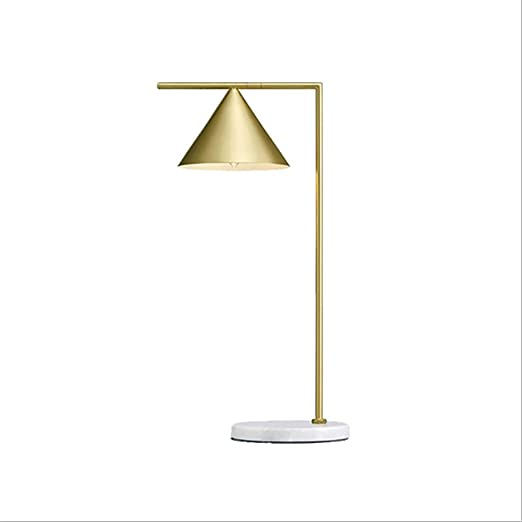 Lámparas de Escritorio Lámpara de Mesa de mármol nórdico de Bronce ...