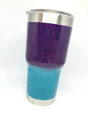 Amazon.com: Glitter Dipped Yeti Rambler Ombré 20 oz or 30 ...