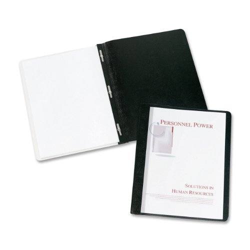 Avery Durable Clear Front Report Covers, Black, Pack of 25 (47960) Color: Black, Model: 47960, Office/School Supply Store