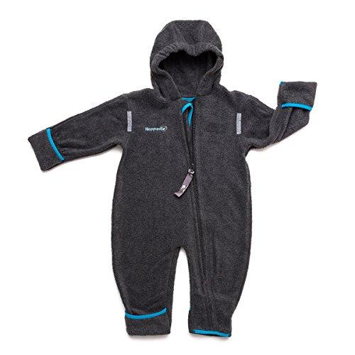 HOPPEDIZ Fleece-Overall 48-52 anthrazit: Amazon.de: Baby