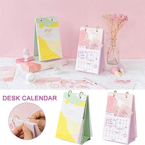 Pangyan990 2019-2020 Tischkalender für Home Office Tabelle Desktop-Dekoration