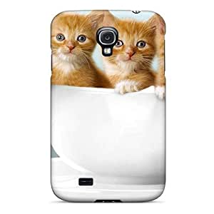 Galaxy Cover Case - Sweet Cat Trio On Cup Protective Case Compatibel With Galaxy S4