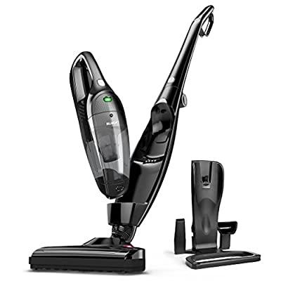 SUAOKI 2-in-1 Cordless Vacuum Cleaner, Upright Stick and Handheld Vacuum Lightweight Bagless with Rechargeable Battery, Charging Base, Cyclonic HEPA Filtration for Home, Carpet, Car, Hard Floor