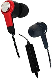 Billboard Bluetooth Wireless Earbuds With Controls and Microphone Red