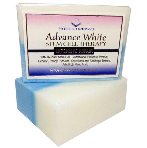 Relumins Advance Blanchiment savon avec réparation de la peau intensifs et thérapie de cellules souches