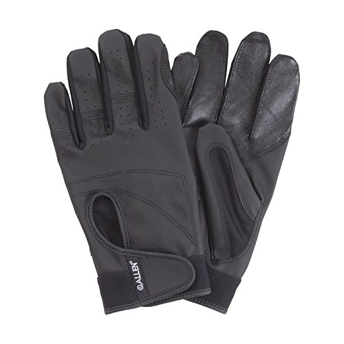 Allen Aspen Vented Leather Shooting Gloves with Touchscreen, Black