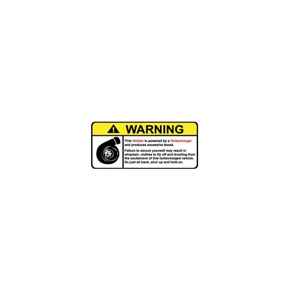 Holden Warning Turbocharger, Warning decal, sticker