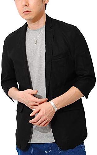 (リ.エーピー) テーラードジャケット コットンリネン 7分袖 サマージャケット テーラード メンズ