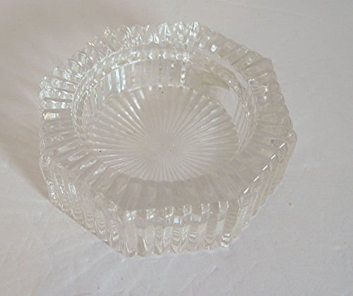 Estate Find Vintage Heavy 24% Lead Crystal Candle Holder 3.5 Inches D