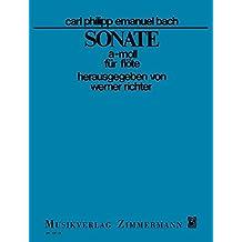 Sonate a-Moll: Wq 132. Flöte.
