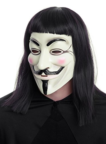 [DC Comics V For Vendetta Guy Fawkes Mask] (Hot Halloween Costumes For Guys)