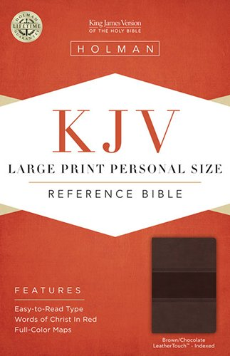 KJV Large Print Personal Size Reference Bible, Brown/Chocolate LeatherTouch Indexed pdf epub