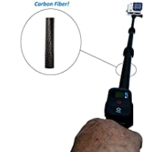 Carbon Fiber Extendable Pole for POV Cameras Gopro Hero 4 3+ 3 2 1 Session Black Silver LCD JVC Adixxion Sony HDR Contour Muvi Drift Ghost Ion Shimano Sony Action Polaroid Extreme Midland Monopod