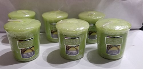 Pineapple Votive - Yankee Candle Lot of 6 Pineapple Cilantro Votive Candles