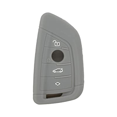 SEGADEN Silicone Cover Protector Case Skin Jacket fit for BMW X1 X3 X4 X5 X6 4 Button Smart Remote Key Fob CV4907 Gray: Automotive