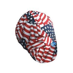 Gorra de soldar, color rojo/blanco/azul, 7 - 1/2: Amazon.es: Amazon.es