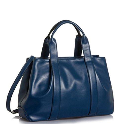 Grand Bandoulière Fourre tout Cuir Main Pu Femmes À Luxe En Bleu Sac Feitong x6fwqYzx