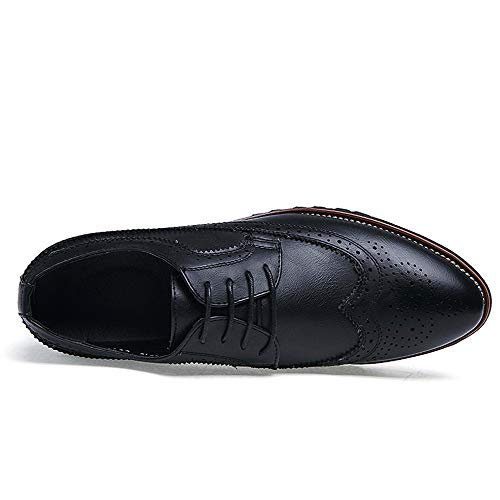 Intaglio Comode da Nero Business Scarpe Oxford Scarpe Antiscivolo Classic da Men's Cricket Casual Z6fwqZn