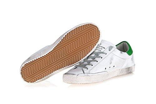 Gouden Gans Schoenen Sneakers In Leer Met Vintage-effect Superster Wit