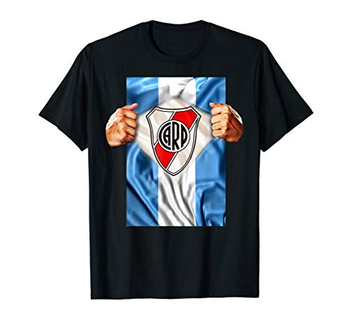 River Plate T-shirt Heartbeat Football Soccer Fans Gift