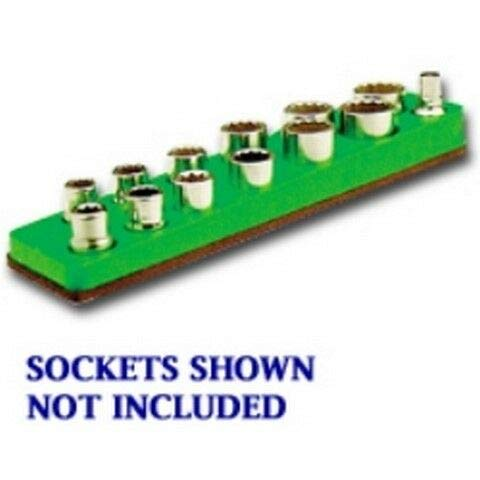 3/8 in. Drive Magnetic Neon Green Socket Holder 5.5-22mm MTS718 V08534