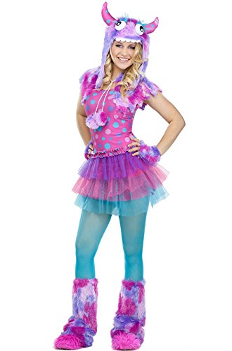[Fun World Costumes Women's Polka Dot Monster Teen Costume, Pink/Blue, One Size] (Polka Dot Monster Teen Costumes)