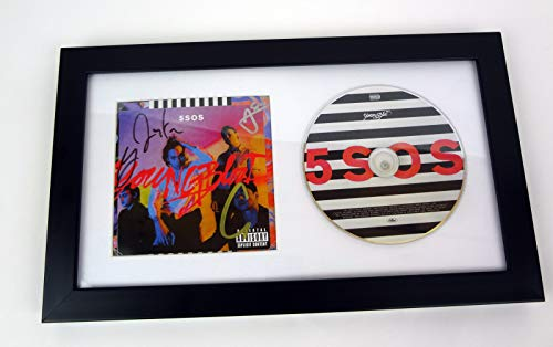 5 Seconds of Summer 5SOS 5 SOS Band Signed Autograph Youngblood Framed CD COA