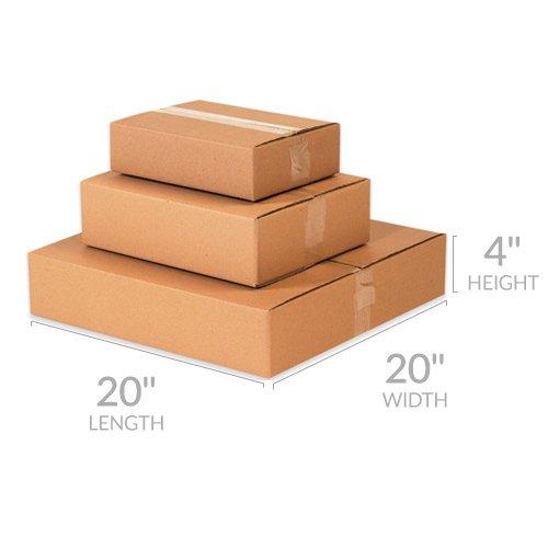 cbcfa348301 Amazon.com  UBOXES 10 Flat Corrugated Boxes 20 x 20 x 4