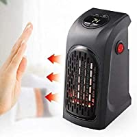 AZOD Portable Smart Fan Handy Heater, 400W Handy Heater Compact Plug-In Portable Digital Electric Heater Fan Wall Outlet Handy Air Warmer Blower Adjustable Timer and Temperature Digital LCD Display with Remote