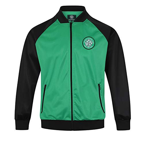 (Celtic FC Official Soccer Gift Mens Retro Track Top Jacket Large)
