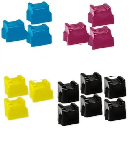 Speedy Inks - Compatible Xerox Phaser 8560 Set of 15 Sold Ink Sticks 6 Black 108R00727 3 Cyan 108R00723 Magenta 108R00724 Yellow 108R00725 for Phaser 8560 8560DN 8560DT 8560DX 8560MFP 8560N