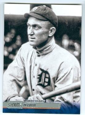 Ty Cobb baseball card (Detroit Tigers Hall of Famer) 2014 Topps Stadium Club #72 - Ty Cobb Autograph