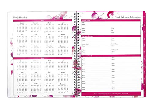 Large Product Image of Blue Sky 2019 Weekly & Monthly Planner, Flexible Cover, Twin-Wire Binding, 8.5