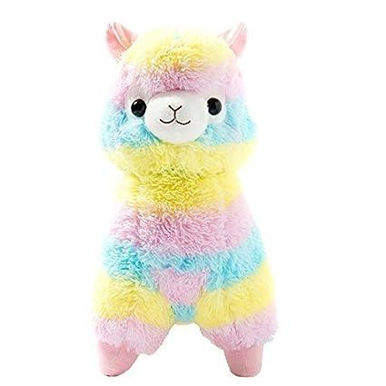 Amazon Com Cuddly Llama Rainbow Alpaca Doll 7 Soft Baby Stuffed