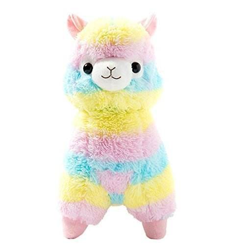 Cuddly Llama Rainbow Alpaca Doll 7 Soft Baby Stuffed Animal Toy Puppet Doll Valentine's Day Birthday Xmas Christmas Wedding Anniversary Presents Gifts by AngelGift (Puppet Toy Stuffed)
