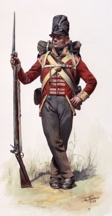 Footsoldier Costume (1806-1820 Napoleonic Era British Foot Soldier's Jacket Pattern - Size 3)