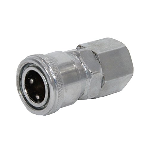 MagiDeal Stainless Steel BSP Threaded Pipe Air Hose Pneumatic Quick Coupler Connector Joint - Silver, SM40-1/2''