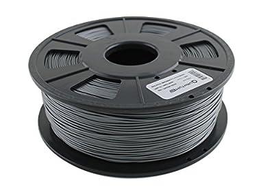 Quantum 3D Gunmetal 1.75MM ABS PRO 3D Printing Filament (1.0 kg Roll)