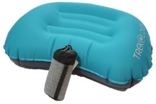 Compact Inflating Travel / Camping Pillow - Ultralight Backpacking Pillow - Compressible, Inflatable, Comfortable Pillow for Relaxing Outdoor (blue - new design)