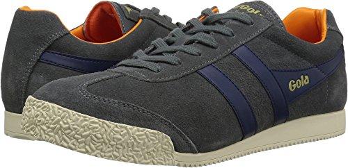 Gola Men Footwear Sneakers - Gola Men's Harrier Suede Sneakers | Graphite/Navy/Orange - Grey - 8 D US
